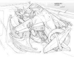 aircraft airplane dragon female jet living_machine lying machine mechanical missionary_position on_back pussy ratbat scratch sex
