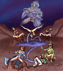 7girls areola avatar_the_last_airbender azula breasts cunnilingus dark_skin earthbending erect_nipples female female_only fingering human katara mai_(avatar) masturbation multiple_females nipples oral pussy senseixxx suki tentacle tentacle_rape tongue tongue_out toph_bei_fong ty_lee water_tentacle waterbending yue yuri