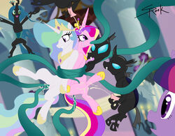 changeling cum cum_in_pussy equine fellatio female feral friendship_is_magic group horn horse impregnation interspecies licking male my_little_pony oral oral_sex penetration pony princess_cadence_(mlp) princess_celestia_(mlp) queen_chrysalis_(mlp) rape selrock sex tear tentacle tongue twilight_sparkle_(mlp) unicorn vaginal_penetration wings