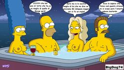 homer_simpson marge_simpson ned_flanders sara_sloane the_simpsons