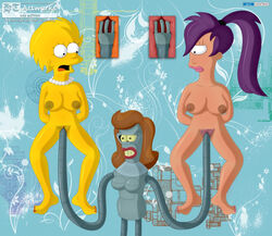 breasts clitoris futurama lisa_simpson pubes pussy tagme the_simpsons turanga_leela