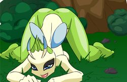 breasts celebi color female female_only nintendo pokemon pokemon_snap_xxx solo uncensored