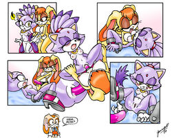 blaze_the_cat comic cream_the_rabbit sonic_(series) tagme vanilla_the_rabbit