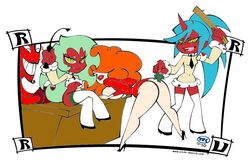 crossover him kneesocks panty_and_stocking_with_garterbelt powerpuff_girls sara_bellum scanty turk128