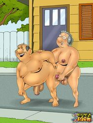 dennis_the_menace futa-toon george_wilson human intersex male martha_wilson tagme