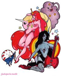 adventure_time lady_rainicorn lumpy_space_princess marceline peppermint_butler princess_bubblegum
