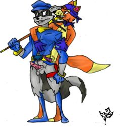crossover dora_the_explorer furry_only jake_milo male multiple_males sly sly_cooper sly_cooper_(series) swiper yaoi