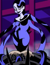 1boy 1girl ass batman_(series) batman_beyond bondage dboy dc dcau femdom inque malesub monster_girl restrained shapeshifter tentacle_on_male tentacles_on_male terry_mcginnis torn_clothes