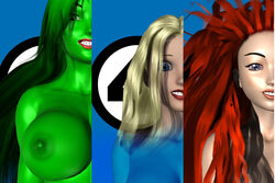 3d fantastic_four hulk_(series) invisible_woman jennifer_walters marvel medusa sailmaster-seion she-hulk sue_storm