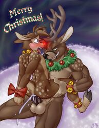 anthro beau christmas furry furry_only reindeer rudolph rudolph_the_red-nosed_reindeer tagme yaoi