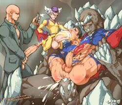 4boys alien anal bald big_balls black_hair cape clothed_sex cum cum_in_ass cum_in_mouth cum_in_pussy dc dc_comics domination doomsday eyes_rolling_back foursome fucked_silly grey_hair grey_skin grin hand_on_head hat hotcha huge_cock humanoid humanoid_penis imp leg_grab legs_held_open lex_luthor muscles muscular_male oral recording red_eyes ripped_clothing spikes superman thick_penis three_on_one yaoi