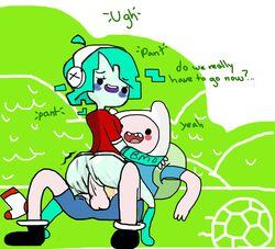 adventure_time bmo finn_the_human puberty pubic_hair sock tagme