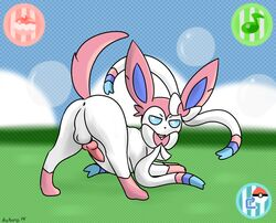 anus eeveelution furry furry_only knot kyoushiro male nintendo no_humans penis pokemon presenting sylveon video_games