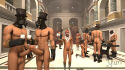 2016 3d ass erection gay huge_cock male muscle penis pyro scout source_filmmaker team_fortress team_fortress_2 yuri_mitsu_(artist)