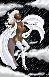 1girl dark-skinned_female dark_skin jaredthehet marvel mohawk solo storm tagme white_jair x-men