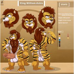 aaron adult anthro ass astro balls big canine feline fur furry king liger ligerwold lion male marxeen men model_sheet muscles penis royalty sack tiger wolf xxx