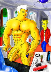 bart_simpson big_brother color fanart gay human male multiple_males nude penis the_simpsons tom urbanblue yaoi