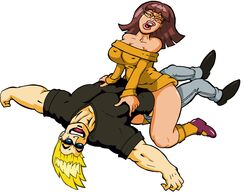 assertive cowgirl_position crossover happy_sex johnny_bravo johnny_bravo_(series) scooby-doo velma_dinkley