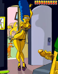 color female homer_simpson human itooneaxx male marge_simpson santa's_little_helper straight the_simpsons