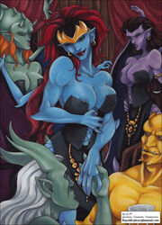 angela avalon black_hair demona female full_color gargoyles large_breasts long_hair male medium_breasts multiple_females multiple_males no_humans ophelia orange_hair red_hair silver_hair vp
