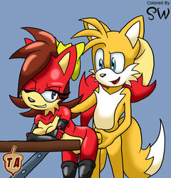 color female fiona_fox fox fur furry male sidspaztyler sonic_(series) tails