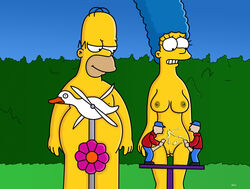 color female homer_simpson human male marge_simpson nekomate14_edited straight tagme the_simpsons