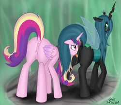 friendship_is_magic my_little_pony princess_cadence queen_chrysalis xyi