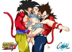 chichi dragon_ball_gt dragon_ball_z son_goku vegeta