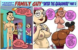 1boy 3girls age_different areola bent_over breasts_out brown_skin curvy ester_(family_guy) excessive_pussy_juice exoravant eyeshadow eyewear family_guy fat_mons female glenn_quagmire huge_breasts imminent_sex inverted_nipples lips looking_at_viewer looking_back male medium_breasts meg_different meg_griffin nipples pale_skin perky_breasts pussy_juice ruth_(family_guy) shirt_lift small_breasts thick_lips wide_hips