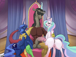 discord friendship_is_magic my_little_pony princess_celestia princess_luna_(mlp) purevil