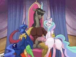 animated discord friendship_is_magic my_little_pony princess_celestia princess_luna_(mlp) purevil