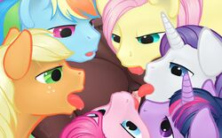 7girls anatomically_correct_pussy applejack_(mlp) arareroll bedroom_eyes blonde_hair blue_eyes breasts brown_fur crotchboob cunnilingus drooling equine equine_pussy erection eyelashes female feral fluttershy_(mlp) friendship_is_magic fur furry furry_only green_eyes group group_sex hair hi_res horn horse kissing licking long_hair looking_at_viewer looking_down male multi-colored_hair my_little_pony nipples open_mouth oral orange_hair orange_nose orgy pegasus penis pink_eyes pink_fur pink_hair pinkie_pie_(mlp) pony purple_eyes purple_hair pussy rainbow_dash_(mlp) rainbow_hair rarity_(mlp) red_hair rule_63 saliva teal_eyes tongue tongue_out twilight_sparkle_(mlp) unicorn vaginal_penetration white_fur wings worship yellow_fur yellow_nose yuri