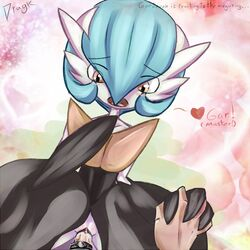 alternate_color cum dragk female gardevoir hand_holding human male mega_gardevoir nintendo penetration penis pokemon pokephilia pussy sex shiny vaginal_penetration video_games