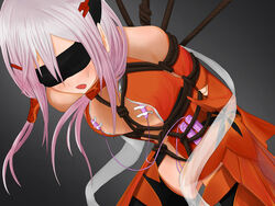 blindfold bondage bondage bondage breasts female guilty_crown nipples rope vibrator yuzuriha_inori
