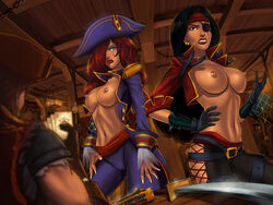 gangplank katarina league_of_legends miss_fortune sunsetriders7 tagme