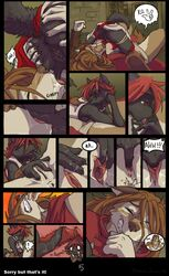 69 anthro anus ass assassin's_creed blood brown_hair canine closed_eyes clothed clothes comic crying cunnilingus domovoi_lazaroth female finger_fuck fingering fur furry hair hymen licking mammal oral oral_sex pain popped_cherry pussy pussy_juice red_hair saliva sex templar tongue vaginal_penetration virgin wolf yuri