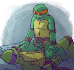 anal anal_sex anthro brothers donatello_(tmnt) duo furry_only gay incest male michelangelo_(tmnt) penetration penis reptile scalie sibling sneefee teenage_mutant_ninja_turtles turtle