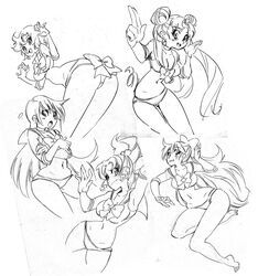 bishoujo_senshi_sailor_moon monochrome panties rafchu sailor_jupiter sailor_mars sailor_mercury sailor_moon sailor_venus