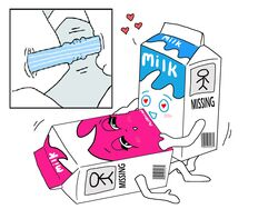 4chan blur blush drink inanimate love mascot milk milk_carton milky no_humans on_back penetration penis pussy sex straight straw strawberry vaginal_penetration what
