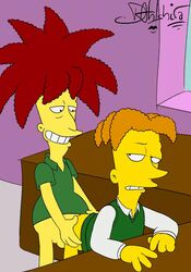 anal animated cecil_terwilliger dahlshita gay sideshow_bob the_simpsons yaoi