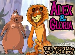 alex_the_lion anthro breasts dreamworks erection female gloria madagascar male penis small_breasts