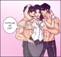 batman_(series) boob_grab dc dick_grayson dick_hammersmith male nightwing zatanna