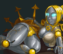 aka6 breasts female league_of_legends orianna panties robot_girl
