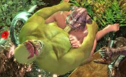 3d animated bara dovahkiin dragonborn gay male notyouregularidiot orc skyrim the_elder_scrolls