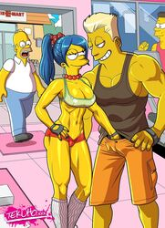 cheating fondling homer_simpson marge_simpson milf tekuho the_simpsons