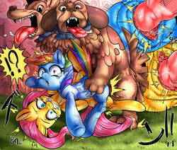 canine canine equine erection female feral fluttershy_(mlp) friendship_is_magic horse interspecies knot male mammal my_little_pony nekubi orthros_(mlp) pegasus penetration penis pony pussy rainbow_dash_(mlp) sex vaginal_penetration vaginal_penetration wings zoophilia