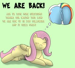 ass fableiii fluttershy_(mlp) friendship_is_magic my_little_pony rainbow_dash_(mlp)