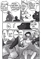 angry anthro bear big_bad_wolf blush bondage bound canine comic fingering fur furry gay gmilf human male mammal maririn nude text underwear wolf