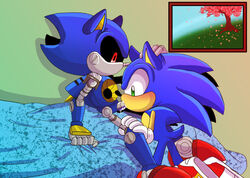 2014 angelofhapiness anthro cum cum_in_mouth cum_inside cum_on_face cum_on_penis fellatio footwear gay hedgehog hi_res looking_down machine male mammal mechanical metal_sonic nude open_mouth oral oral_sex orgasm penis robot sega sex shoes sitting sonic_(series) sonic_the_hedgehog sucking video_games