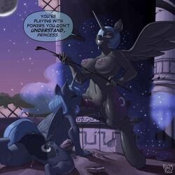 2girls cute dickgirl friendship_is_magic kevinsano my_little_pony nightmare_moon princess_luna_(mlp)